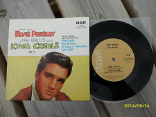 Elvis King Creole Vol 1 ep Australian 70's Tan Lbl Aussie OZ