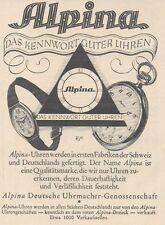 Y6529 ALPINA Uhren -  Pubblicità d'epoca - 1927 Old advertising