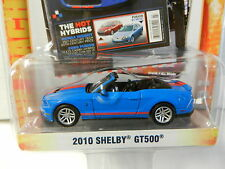 GreenLight *ZINE MACHINES 2* Blue 2010 Shelby GT500 Mustang Convertible NIP!