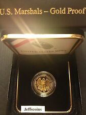 2015 W United States Marshals 225th Anniversary Proof Gold $5 Dollar Box COA SR1