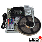 Waterproof RGB Color-Changing Flexible LED Strip Kit w Controller + Power Supply