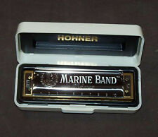 "Harmonica diatonique Hohner Marine Band ""Blues"" en Do - C sommier bois Neuf  NEW"
