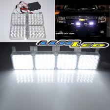80 White LED Emergency Hazard Warning 12V Grille Strobe Flashing Light New K