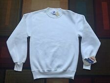 NEW Vintage Jerzees Crewneck Sweatshirt Made USA White Blank Deadstock 90s 80s