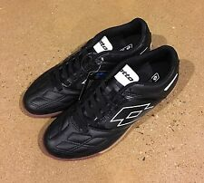 Lotto Stadio Potenza IV Size 7.5 Men's Black White Athletic Indoor Soccer Shoes