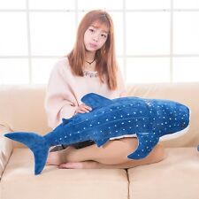 creative plush blue shark toy stuffed sea whale doll gift about 100cm