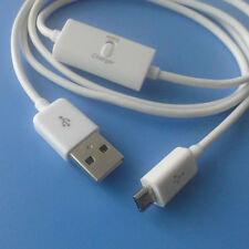 Micro usb data charging cable with switch