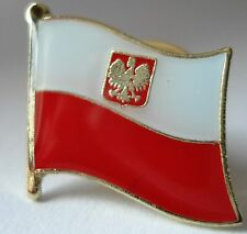 Poland / Polish  Flag Pin Badge  High Quality Gloss Enamel BUY TWO GET ONE FREE