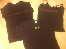 Lot 4 GRAPHIC YUM INSATIABLE THIRST TOTAL WASTE ZEPHYRUS BLACK Vampire TANK TOPS