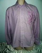 Pink striped Firetrap shirt size large