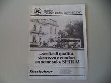 advertising Pubblicità 1982 AUTOBUS SETRA S 212 H KASSBOHRER