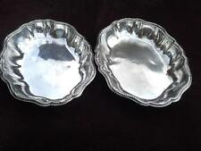 Nice pair of silver plated ? bowls / dishes stamped S , T3 and T1 ornate border