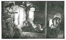 VERBOTENES WISSEN - SPION und KONSPIRATION - Edy LEGRAND - Orig.Holzschnitt 1929