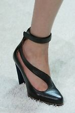 Chloe Runway Cross Over Strap Pumps High Ankle Suede Heels $850 41 11