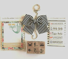 The Planner Society Beach, Sea theme Stamps, Sticky Notes, Pad, Bow Charm