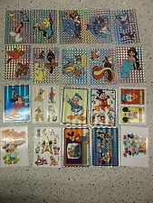 LOT of 20 Vintage Prism Vending Stickers DISNEY & Aladdin MICKEY MOUSE