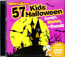 57 KIDS HALLOWEEN SONGS STORIES & SOUNDS CD + BONUS VIRTUAL GHOUL LOG/CASPER DVD