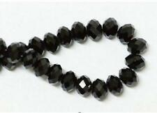 Free shipping 6mm 98pcs Rondelle Bicone Crystal Jewelry Beads Black