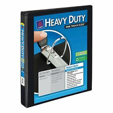 """1"""" Avery Heavy-Duty EZD 3-Ring Binder D-Ring Reference View Inch Black New Three"""