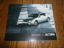 2001 Nissan Altima Sales Brochure