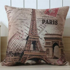 "18""  Retro France Paris Eiffel Tower Home Decorative Pillow Case Cushion Cover"