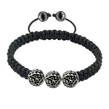 018619 Tresor Paris 3 Grey Crystal Bracelet