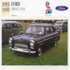 1953-1959 FORD PREFECT 100E Classic Car Photograph / Information Maxi Card