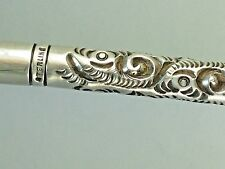 ANTIQUE FRENCH HEAVY STERLING SILVER REPOUSSE DIP FOUNTAIN PEN