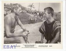 Barechested man Jacque Sernas VINTAGE Photo Sign Of The Gladiator
