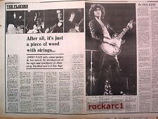 LED ZEPPELIN JIMMY talks guitars 2 page UK  ARTICLE / clipping
