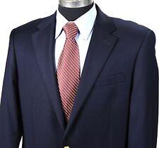 RALPH LAUREN Mens 40L Navy Blue 2-Gold Button Classic Wool Blazer Jacket/Coat