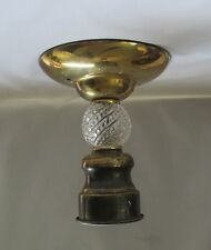 3 Chain Ceiling Light Fixture & Chains ~ Handmade From Vtg Parts ~ Brass & Glass