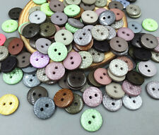 wholesale 100X Resin Buttons round 2-holes Sewing Scrapbooking decoration 13mm