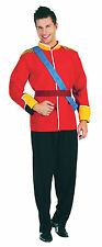 Da Uomo Rosso PRINCE ROYAL Fancy Dress Costume ROYALTY RE GUGLIELMO HARRY Vestito Nuovo