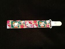 SUPER CUTE COLORS HELLO KITTY PACIFIER HOLDER CLIP