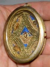 Old Silver +Gold Reliquary 5 Relics Irish St. Bernard Hildebrand Victoria Anselm