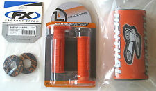 "Renthal Orange 1-1/8"" Fat Bar Pad Moose MX Grips Grip Donuts Set EXC XC SX SXF"