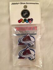 2 COLORADO AVALANCHE JIBBITZ COLORADO AVALANCHE SHOE CHARM HOCKEY NHL JIBBITZ