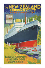 ROYAL mail line VINTAGE boat travel poster 24X36 SOUTHAMPTON PANAMA hot RARE