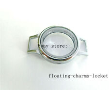 One 30mm Memory Plain Glass Locket Base For floating charms Wrap Bracelet