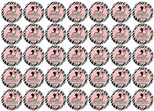 108 Minnie Mouse Zebra Baby Shower Hershey Kiss Labels Stickers Personalize