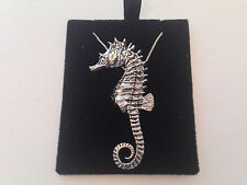 C12 Seahorse on a 925 sterling silver Necklace Handmade 20 inch chain