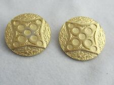 FAB MODERNIST DESIGN VINTAGE GUY LAROCHE ROUND GEOMETRIC CLIP ON EARRINGS