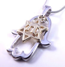 Star Of David Magen Hamsa Hand Chai Evil Eye Necklace Pendant Silver Gold Charm
