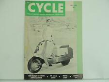 Vintage July 1959 CYCLE Magazine Harley Topper Scooter Triumph Tigress L2954
