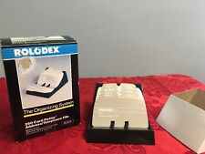 Vintage ROLODEX S-310 New IN BOX 250 Card Petit Address/Telephone File Black NOS