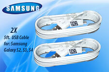 NEW 2X Samsung Galaxy S2 S3 S4 S5 Micro USB Cable 2.0, 5ft.