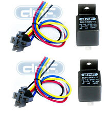 DNF(2 PAIR) 30/40 AMP 12V BOSCH STYLE RELAY HARNESS SPDT + 100% COPPER WIRES