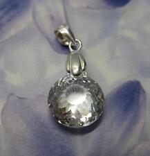 Pendentif Rhodié Diamant Cz Multifacette 12 mm Argent 925 Dolly-Bijoux