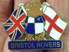 BRISTOL ROVERS BULLDOG AND FLAGS ENAMEL PIN BADGE